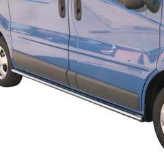 Oval Tube Side Bars with Steps 76mm for Vauxhall Vivaro (06 -14)