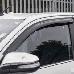 Quad Set Front & Rear Wind Deflectors Dark Smoke Toyota Landcruiser Mk3 (2017 Onwards)