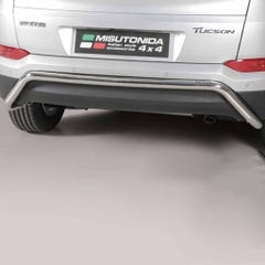 Rear Bar 63mm Stainless Mach for Hyundai Tuscan Mk2 (15 on)