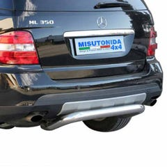 Rear Bar 76mm Stainless Mach for Mercedes M Class Mk3 (05 on)