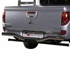 Rear Bar 76mm Stainless Mach for Mitsubishi L200 Mk7 (10 on) LONG BED