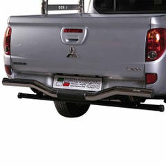Rear Bar Curved DOUBLE 63mm Stainless Mach for L200 Mk7 (10 on) LONG BED