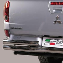 Rear Bar Curved DOUBLE 63mm Stainless Mach for L200 Mk8-9 (15 on)