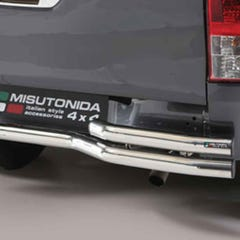 Rear Bar Curved Double 63mm Black Mach for Hilux Mk8 (16 on) EC