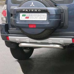 Rear Bar SINGLE 76mm Stainless Mach for Mitsubishi Shogun Mk7 (06 on)