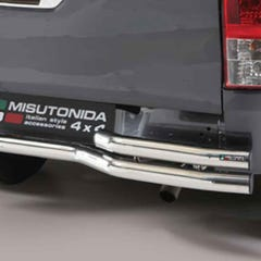 Rear Bar Curved Double 63mm Stainless Mach for Hilux Mk8 (16 on) EC