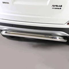 Rear Bar SINGLE 76mm Stainless Mach for Toyota Rav4 Mk7-8 (13 on)