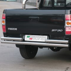 Rear Bar DOUBLE 63mm SS Mach for Ford Ranger Mk3 / BT-50  (06 on)