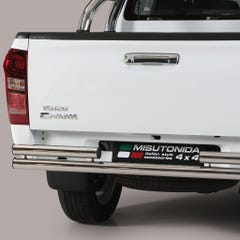 Rear Bar DOUBLE 63mm Stainless Mach for Isuzu D-Max Mk4-5 (12-20)