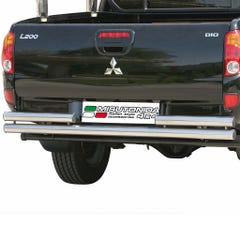 Rear Bar DOUBLE 63mm Stainless Mach for Mitsubishi L200 Mk6 (06-09)