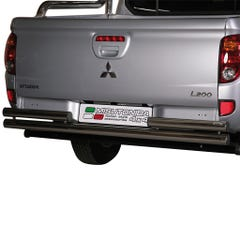 Stainless Steel 63mm Double Rear Protection Bar Mitsubishi L200 Mk7 (2010 Onwards) Long Bed