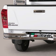 Rear Bar Curved DOUBLE 63mm Stainless Mach for D-Max Mk4-5 (12-20)