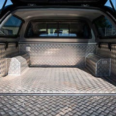 Aluminium Full-Chequer Plate Bedliner Over Rail Hilux Mk6-7 (05 on) EC