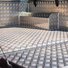 Aluminium Full-Chequer Plate Bedliner Over Rail Amarok MK1 (10 on) DC