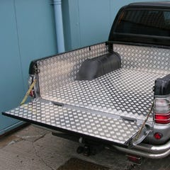 Aluminium Over-Rail Chequer Plate Load Bed Liner Isuzu D-Max Mk4-5 (2012 - 2020) Single Cab