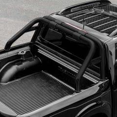 S/S Black 76mm Roll Bar For Truckman Tonneau Cover Mercedes X-Class (18 On)