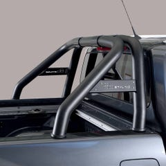 Roll Bar SINGLE 76mm Black SS with Plate for Mercedes X Class (18on)