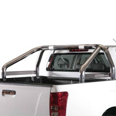 Roll Bar SINGLE 76mm SS 'D-Max' Name Plate Mach for Isuzu D-Max Mk4 & 5 (12 - 20)
