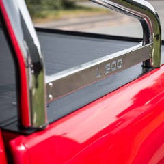 "Roll Bar Single 76mm SS With ""Styling"" Plate Misutonida for Mitsubishi L200"