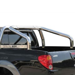 Roll Bar SINGLE 76mm SS Styling Plate Mach for L200 Mk7 LONG BED