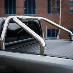 Roll Bar SINGLE 76mm Stainless Mach for Volkswagen Amarok Mk1 & 2 (10 on)