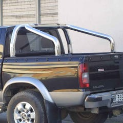 """Roll Bar DOUBLE 76mm SS With """"Rodeo"""" Name Plate Mach D-Max/Rodeo"""
