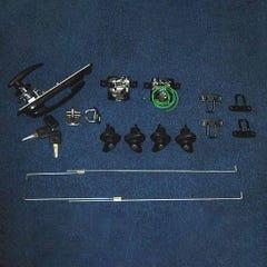 Truckman S-Series Lock Set, 4 off Side Locks and Remote Rear Keyed alike