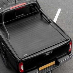 Truckman Retrax Tonneau Cover + Black Roll Bar Ford Ranger 2012+ Double Cab
