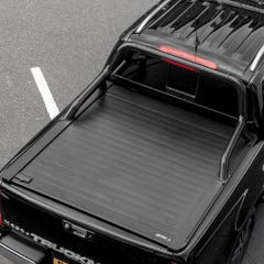 Truckman Retrax Tonneau Cover + Black Roll Bar Isuzu D-Max (2012+) Double Cab