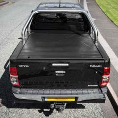 Full Metal Jack Rabbit Roller Tonneau Cover with Roll Bar Hilux Mk6-7 (05-16) DC