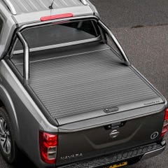 Mountain Top Black Roller Tonneau With Rollbar Mercedes X Class (18-21) DC