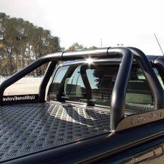 Truckman Black Aluminium LiftUp Tonneau Cover & Rollbar D-Max Mk4-5 (12-20) EC