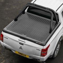 Truckman Black Aluminium LiftUp Tonneau Cover & Rollbar L200 Mk8-9 (15 on) EC