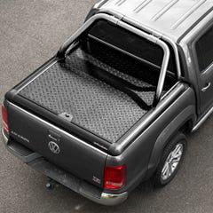 Truckman Black Aluminium LiftUp Tonneau Cover & Rollbar Amarok Mk1-2 (10-21) DC
