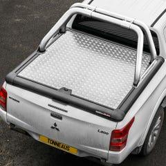 Truckman Silver Aluminium Lift Up Tonneau Cover & Rollbar L200 Mk8-9 (15 on) EC