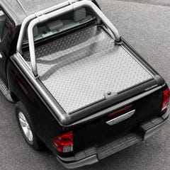 Truckman Silver Aluminium Lift Up Tonneau Cover & Rollbar Hilux Mk8-9 (16 on) DC