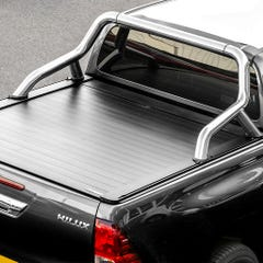 Truckman Retrax Tonneau Cover + Steel Roll Bar Toyota Hilux (2016+) Double Cab