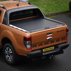 Mountain Top Black Roller Tonneau Cover for Wildtrak Ranger Mk5-7 (2012 Onwards) Double Cab
