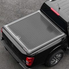 Truckman Black Aluminium Lift-Up Tonneau Cover Nissan Navara D40 (2005 - 2015) Double Cab