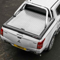 Truckman Silver Aluminium Lift-Up Tonneau Cover & Sports Roll Bar Mitsubishi L200 Mk8-9 (2015 Onwards) Double Cab