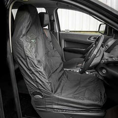 Hi Back Front Seat Cover Black (Pair) Medium - Large Seats
