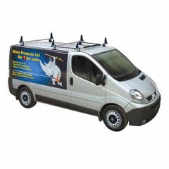 Rhino 3 Bar Delta System With Tie Bars & Aerofoil Vivaro Low Roof (02 on)