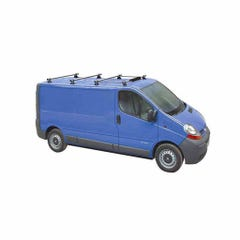 Rhino 4 Bar Delta System With Tie Bars & Aerofoil Vivaro Low Roof (02 on)