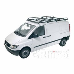 Rhino Modular Roof Rack 2.5m Long x 1.4m Wide Vito (03 on)Compact Tailgate Model