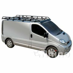 Rhino Modular Roof Rack 2.6m Long x 1.6m Wide Vivaro Low Roof SWB Tailgate Model