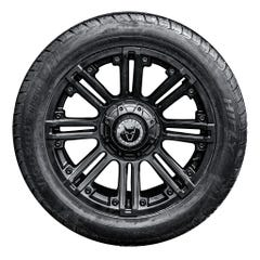 "4 x 20"" Amazon Matt Black Wheels & All-Terrain Tyres Toyota Hilux, 2016 Onwards"