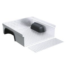 Aluminium Chequer Plate Bedliner Under Rail. NP300 (16 on) DC with C-Channel