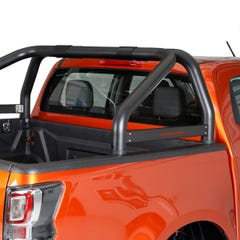 Black Roll Bar SINGLE 76mm for Toyota Hilux Mk8 (16 on)