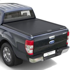 Mountain Top Black Roller Tonneau Cover Ford Ranger Mk5-7 (2012 Onwards) Double Cab