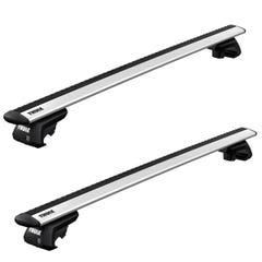 Thule Evo WingBar Kit Silver BMW 3-Series Touring (2005 - 2012) With Roof Rails